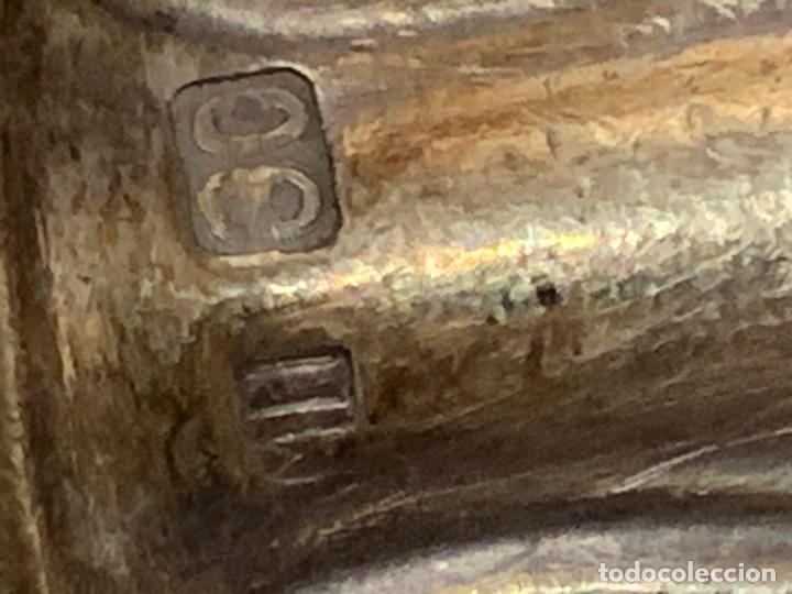 Antigüedades: Lote de 12 antiguos cuchillos, 6 de 25cms y 6 de 20cms. Alpaca plateada tipo meneses... - Foto 7 - 276028873