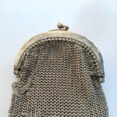 Antigüedades: ANTIGUO BOLSO DE MALLA DE ALPACA. Lote 276132343