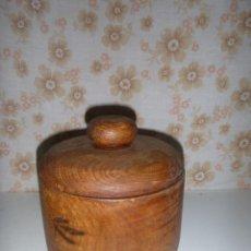 Antigüedades: TARRO COCINA PARA ESPECIES EN MADERA DE OLMO. Lote 276143603