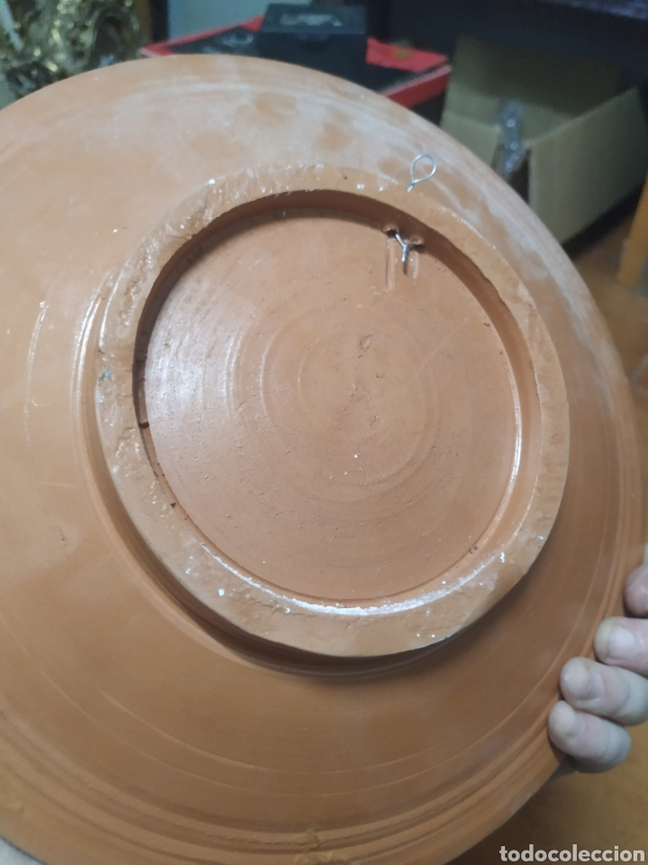 Antigüedades: Plato decorativo cerámica verdu - Foto 2 - 276164303