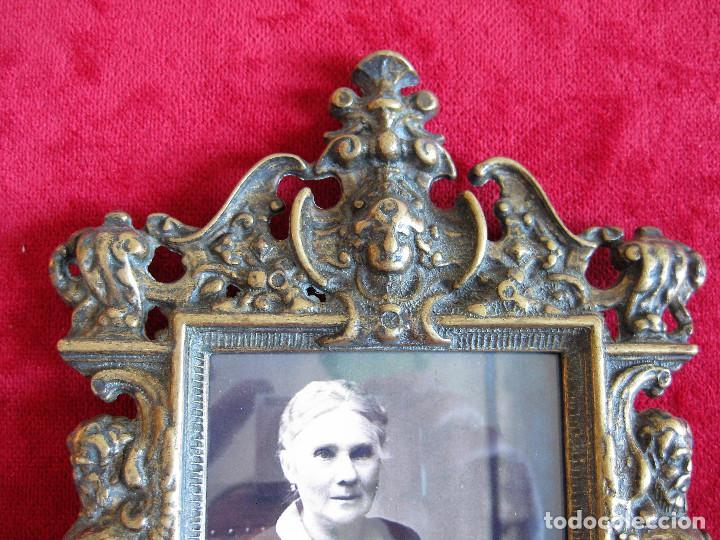 Antigüedades: PORTAFOTOS, MARCO PARA FOTOS EN BRONCE , PORTARETRATO - Foto 6 - 276184583