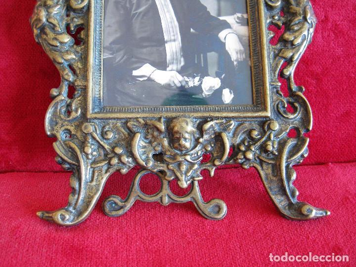 Antigüedades: PORTAFOTOS, MARCO PARA FOTOS EN BRONCE , PORTARETRATO - Foto 7 - 276184583