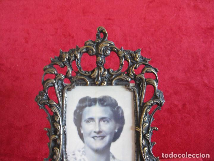 Antigüedades: PORTAFOTOS, MARCO PARA FOTOS EN BRONCE , PORTARETRATO - Foto 3 - 276185673