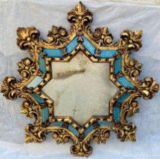 Antigüedades: ESPEJO ANTIGUO ACABADO EN PAN DE ORO O SIMILAR. Lote 276201328