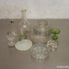 Antiquités: 11 PIEZAS DE CRISTAL ANTIGUO.. Lote 276187998
