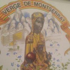 Antiquités: PRECIOSO ADOQUÍN DE LA VIRGEN DE MONTSERRAT, CERÁMICA ALGORA. Lote 276216033