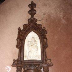 Antigüedades: ANTIGUA BENDITERA ESTILO GOTICO. 42 CM ..VER FOTOS.... Lote 276223443
