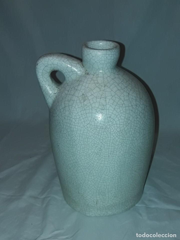 Antigüedades: Bella garrafa de cerámica craquelada firmada Benlloch Manises Amontillado Solera 1830 21cm - Foto 4 - 276227698
