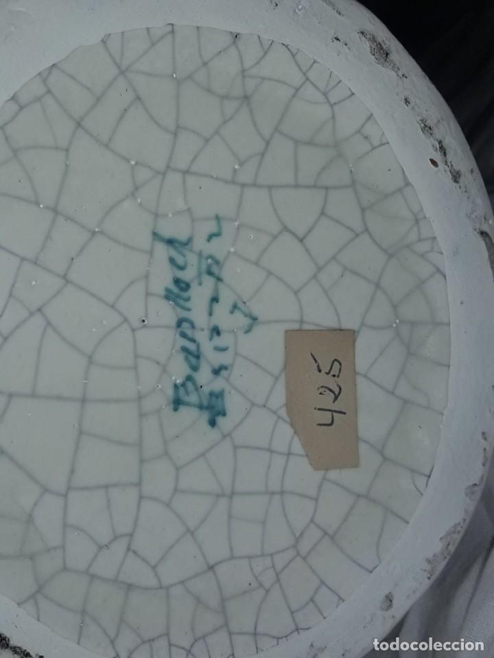 Antigüedades: Bella garrafa de cerámica craquelada firmada Benlloch Manises Amontillado Solera 1830 21cm - Foto 6 - 276227698