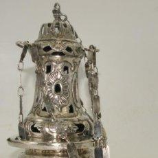 Antigüedades: ANTIGUO INCENSARIO DE PLATA SIGLO XVIII. PIEZA DE MUSEO. Lote 276229098