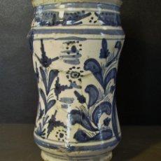 Antigüedades: ROTUNDO ALBARELO CERÁMICA ARAGONESA DE MUEL O VILAFELICHE XVIII. Lote 276240953