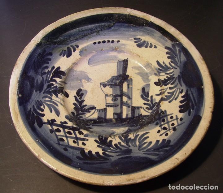 PLATO CERÁMICA CATALANA XVIII (Antigüedades - Porcelanas y Cerámicas - Catalana)