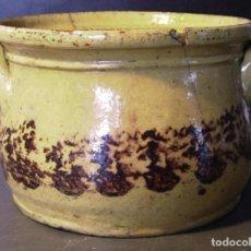 Antigüedades: SOPERA TERRISSA CATALANA ZONA PIRINEO XIX. Lote 276244068