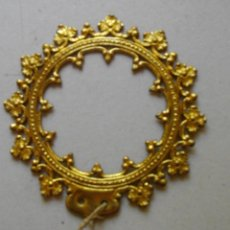 Antigüedades: EXCELENTE CORONA O RESPLANDOR 13 CTMS ( PARA FIGURA DE 53 CTMS) LATON. Lote 276264078