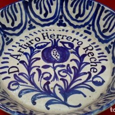 Antigüedades: LLEBRILLO DE FAJALAUZA. PERSONALIZADO.. Lote 276276088