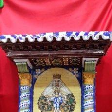 Antiquités: BARRO DE TRIANA. PLAFON RETABLO. NTRA. SRA. DE LOS REYES.. Lote 276277563