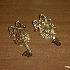 Antigüedades: PAREJA DE ALZAPAÑOS PARA CORTINA.11 X 6 CM.APROX.. Lote 276283603