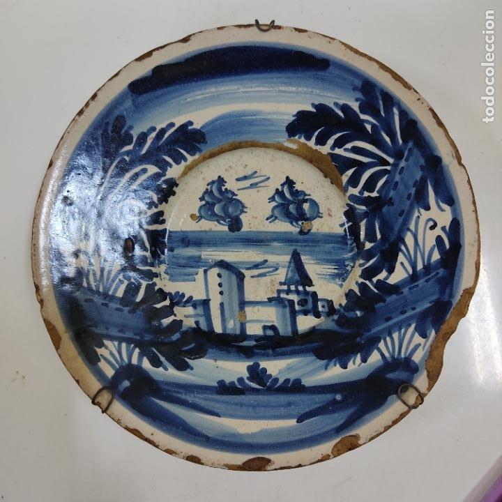 PLATO FAIXES I CINTES SIGLO XVIII (3979/21) (Antigüedades - Porcelanas y Cerámicas - Catalana)