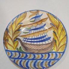 Antigüedades: ESPECTACULAR PLATO GRANDE DE MANISES SIGLO XIX. Lote 276294888