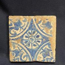 Antiquités: AZULEJO DE MANISES CON DEFECTOS RESEÑADOS EN FOTO. Lote 276294968