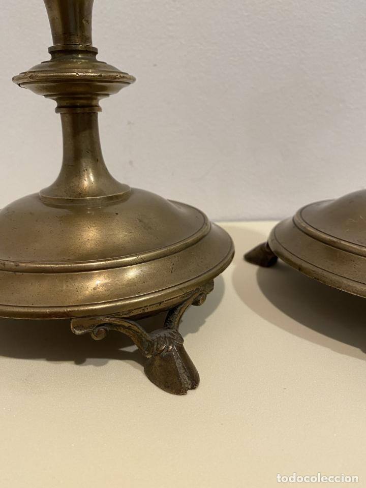 Antigüedades: dos candeleros de pincho - Foto 4 - 276359518