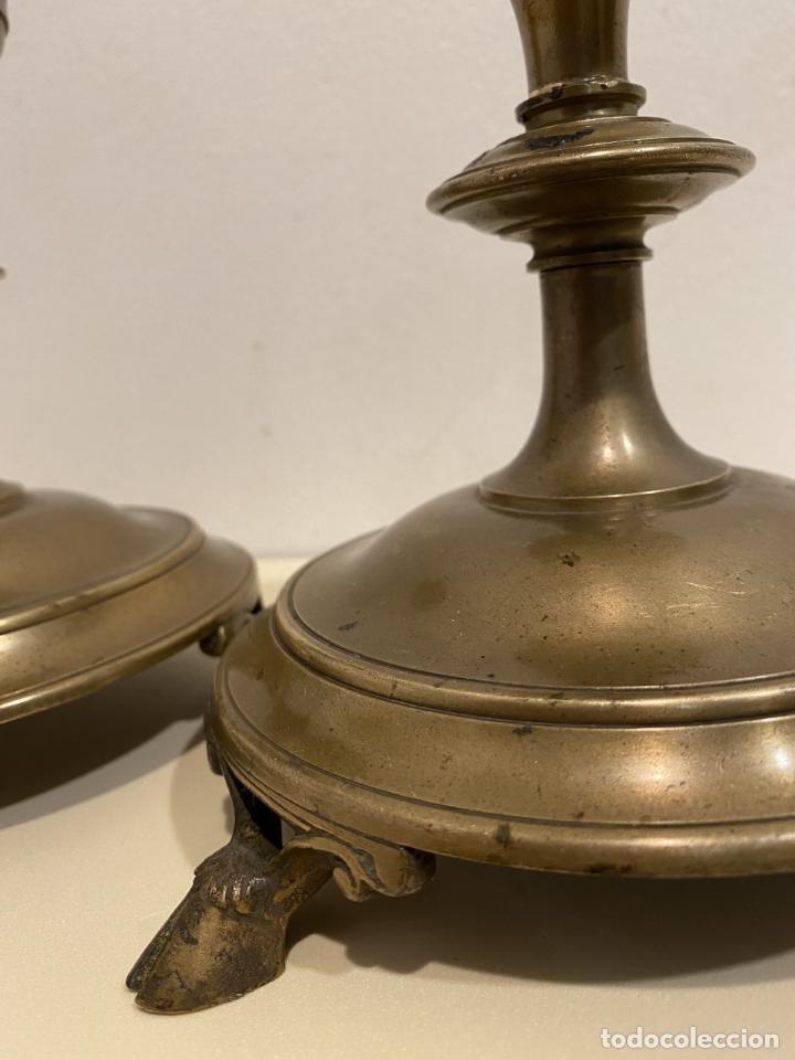 Antigüedades: dos candeleros de pincho - Foto 6 - 276359518