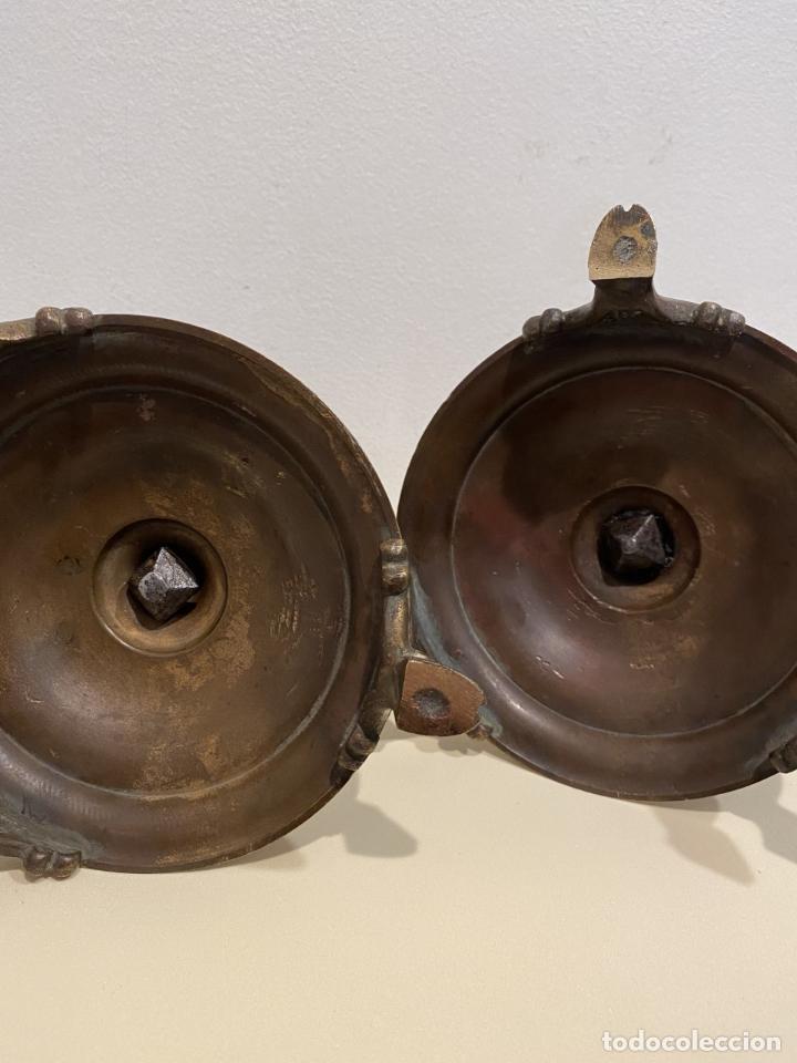 Antigüedades: dos candeleros de pincho - Foto 7 - 276359518