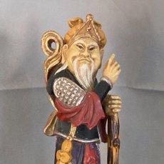 Antigüedades: FIGURA ANCIANO SABIO CHINO, POSIBLEMENTE DE YESO /ESCAYOLA, POLICROMADA, 35 CM, 1970-80 O ANTERIOR. Lote 276363408
