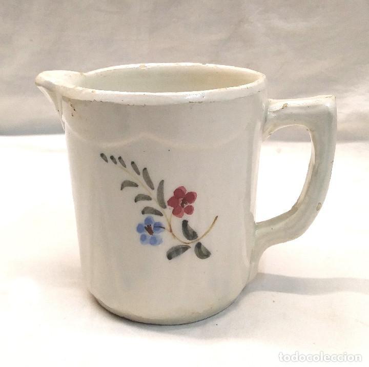 JARRA AÑOS 20 CERAMICA DE MANISES MARCADA BASE. MED. 11 CM ALTURA (Antigüedades - Porcelanas y Cerámicas - Manises)