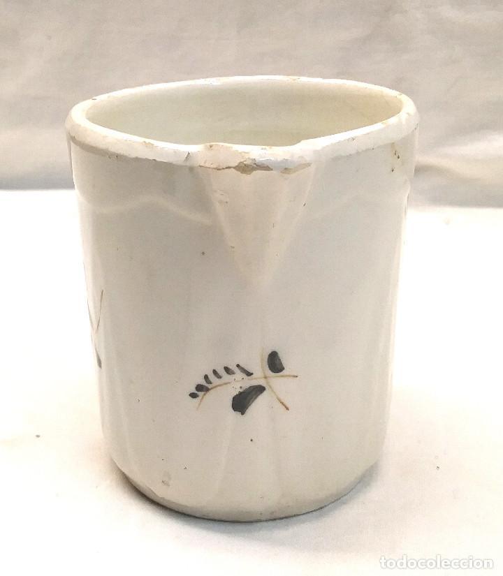 Antigüedades: Jarra años 20 Ceramica de Manises Marcada Base. Med. 11 cm Altura - Foto 2 - 276365568