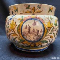 Antiquités: RARA JARDINERA DE CERAMICA, POSIBLEMENTE TRIANA.. Lote 276395013