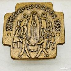 Antigüedades: BROCHE VIRGEN DE LOURDES. Lote 276425373
