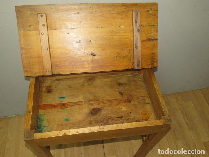 Antigüedades: PRECIOSO PUPITRE AÑOS 50 - Foto 6 - 276461483
