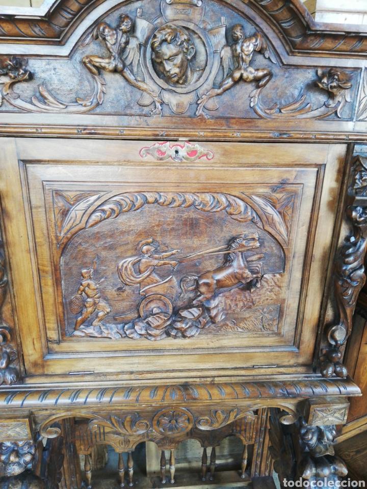 Antigüedades: Bargueño tallado - Foto 2 - 276476948