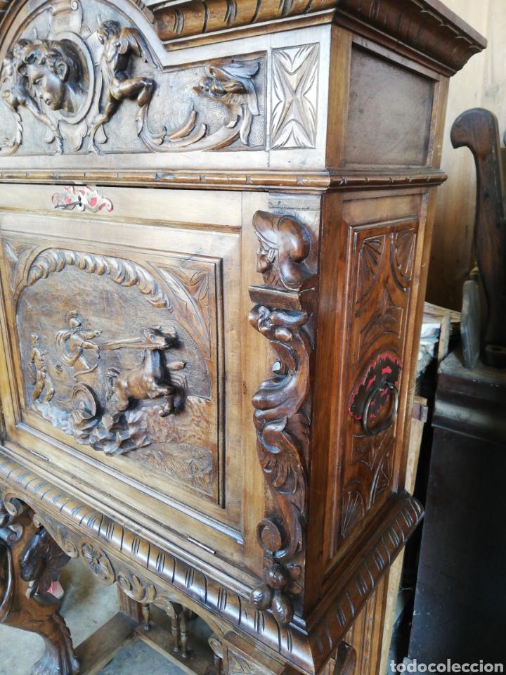 Antigüedades: Bargueño tallado - Foto 4 - 276476948