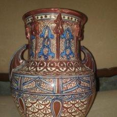 Antiquités: IMPORTANTE JARRÓN NAZARÍ DE REFLEJO DORADO DE MANISES. Lote 276484543