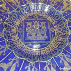 Antiquités: BONITO PLATO DE REFLEJO DORADO Y AZUL DE MANISES.. Lote 276485683