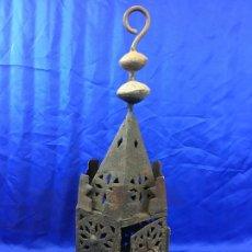Antigüedades: ANTIGUO FAROL DE FORJA. Lote 276569023