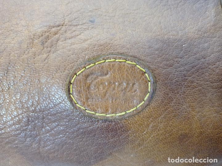 Antigüedades: Antigua maleta Bolso de Viaje en piel . Maletín tipo médico doctor - Foto 4 - 276569813