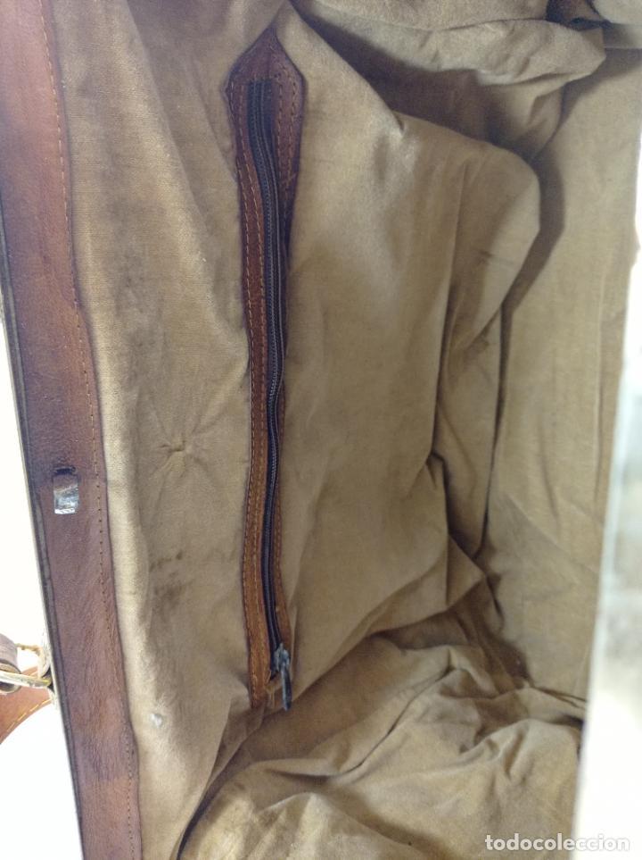 Antigüedades: Antigua maleta Bolso de Viaje en piel . Maletín tipo médico doctor - Foto 7 - 276569813