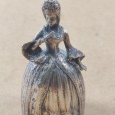 Antigüedades: CURIOSA CAMPANILLA DE PLATA PESO 120 GRAMOS. Lote 276570263