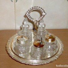 Antigüedades: SERVICIO DE MESA GIRATORIO. ( MADE IN ENGLAND ). Lote 276591808