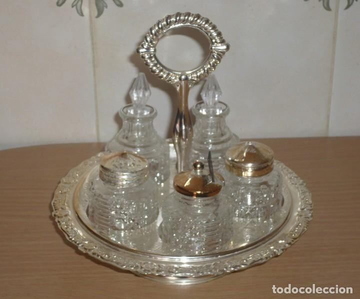 Antigüedades: Servicio de Mesa Giratorio. ( Made in England ) - Foto 2 - 276591808