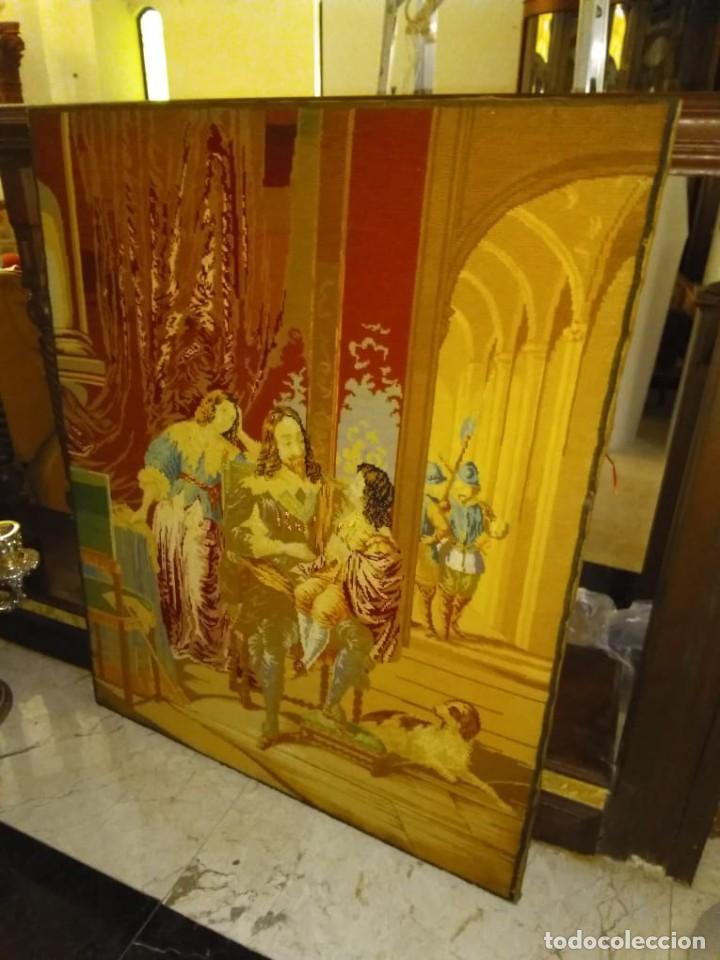 TAPIZ ANTIGUO VICTORIANO. S.XIX. PUNTO DE CRUZ / ENGLISH TAPESTRY [ SIN MARCO CON BASTIDOR] (Antigüedades - Hogar y Decoración - Tapices Antiguos)