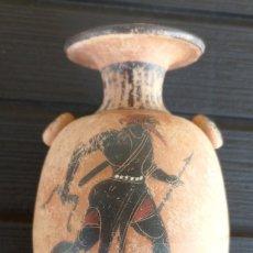 Antigüedades: LÉCITO O LEKYTHOS DE FIGURAS NEGRAS ESTILO ÁTICO (REPRODUCCIÓN). Lote 276613223