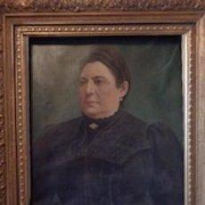 Antigüedades: DONA MARIA MESSEGUER COLOM PEINT PAR ANTONIO CERVETO. Lote 276616453