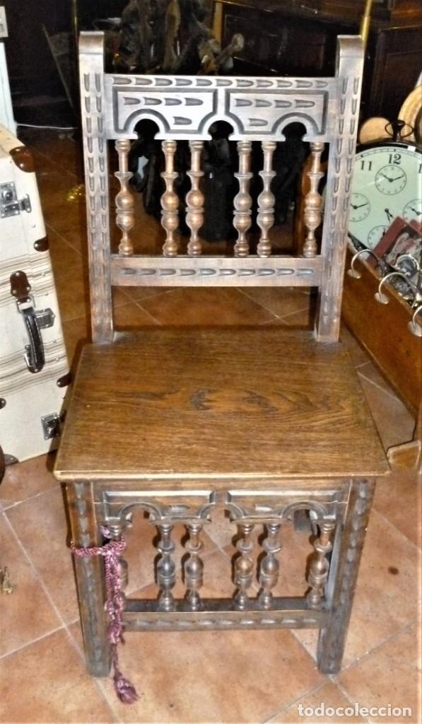 PAREJA DE SILLAS TORNEADAS. (Antigüedades - Muebles Antiguos - Sillas Antiguas)