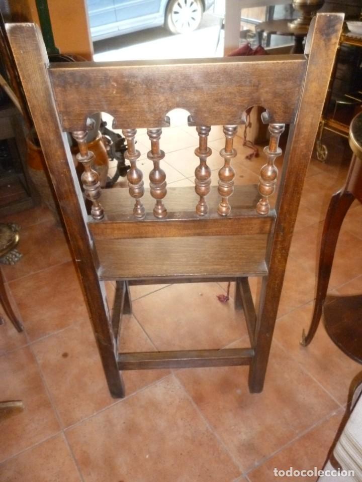 Antigüedades: PAREJA DE SILLAS TORNEADAS. - Foto 2 - 276631288
