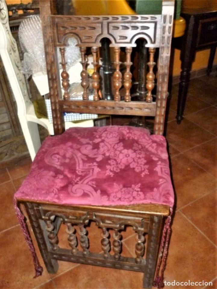 Antigüedades: PAREJA DE SILLAS TORNEADAS. - Foto 3 - 276631288