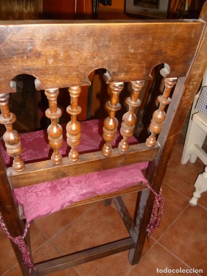 Antigüedades: PAREJA DE SILLAS TORNEADAS. - Foto 5 - 276631288